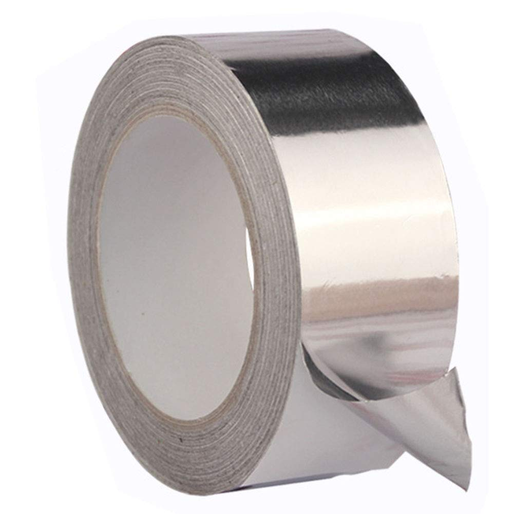 Aluminum Foil Tape, Heavy Duty Waterproof Adhesive Sealing Tape, High Temp Heat-Resistant Foiled Tape Rolls for HVAC Repair, Ducts, Insulation, Dryers, Jewellery Making & Crafts