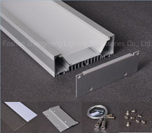Super Brightness Recessed Super wide 40mm led aluminum profile for led linear high bay light with rigid pcb
