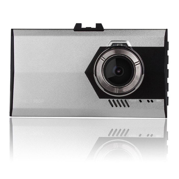 "A8 3"" LCD FHD Ultra-thin Car DVR Vehicle Camcorder Night Vision Dash Cam Camera Digital Video Recorder Golden & Gray"