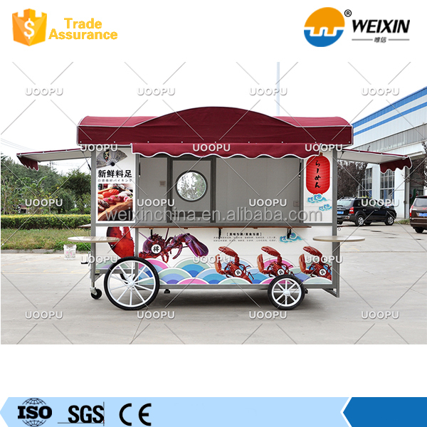 Mobile Food Cart / Food Truck Fast Food Van / Stainless Steel Trailer