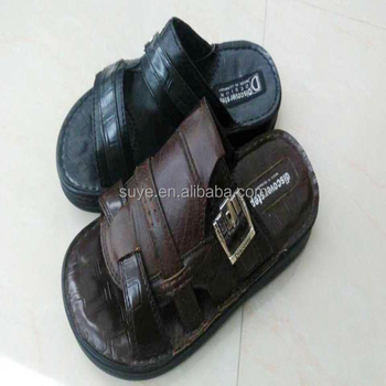 New Fashion Mens Slippers Cheap Leather Slippers Shoes Made In ...