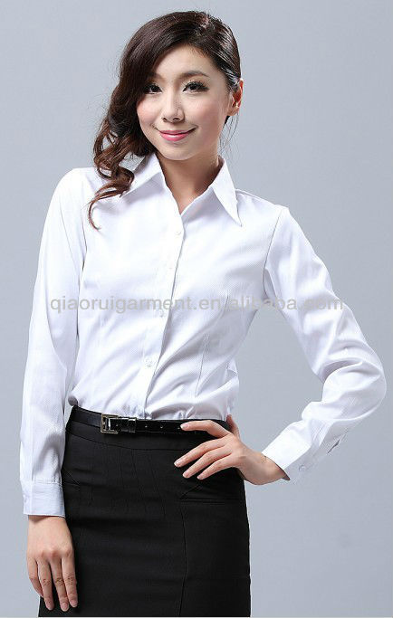 e4b633ef782384 Women/ladies's White Long Sleeve Slim Office Dress Shirts With Pointed  Collar - Buy Women/ladies's White Long Sleeve Slim Office Dress Shirts With  Pointed ...