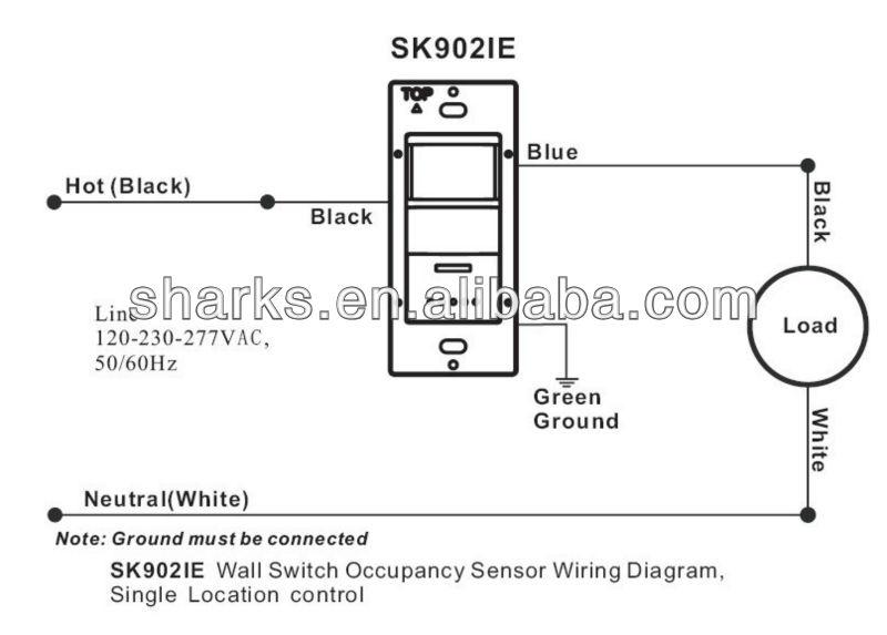 on wall occupancy sensor wiring diagram