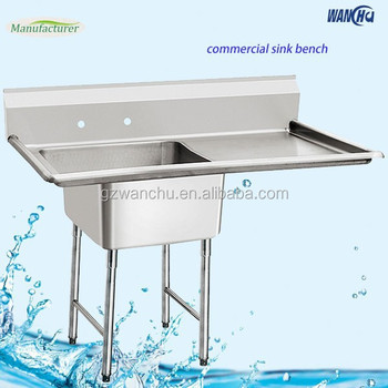 Cheap Stainless Steel Kitchen Sink Tables with Drainer/Commercial ...