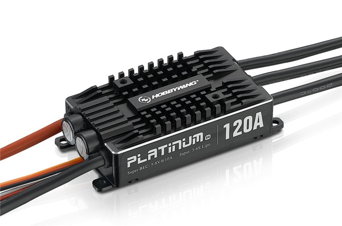 Hobbywing RC Aircraft System Platinum 120A V4 Brushless ESC Excellent Motor Speed Governing