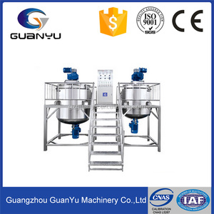 Electric Heating Stainless Steel Sanitary Grade Jacketed Liquid Detergent Mixing tank/Agitator Mixer/Mixing Machine Equipment