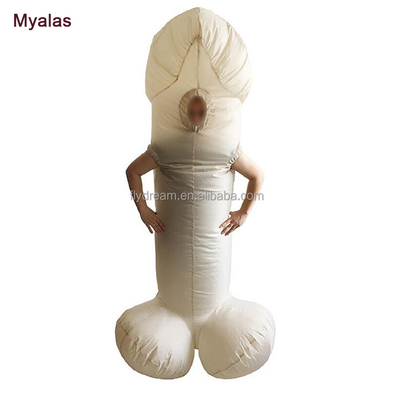 Inflatabe Penis Fancy Dress Pink Skin Color Sexy <strong>Inflatable</strong> WILLY Pen Funny Cosplay For Adult Jumpsuit For Adults