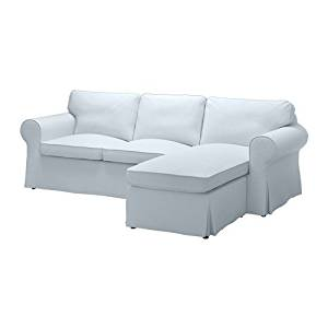 Ikea Cover for 3-seat sectional, Nordvalla light blue 1228.52323.266