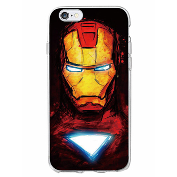 Soft Case Superman Batman Iron Man Captain America Marvel Comics Avenger  Soft Phone Case For Iphone 7 7plus 6 6s 6plus - Buy Superman Pattern Phone
