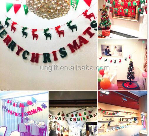 New Trendy Christmas Tree Hanging Flags Xmas Banners Decorations For Gift Home Hotel Yard Ornaments