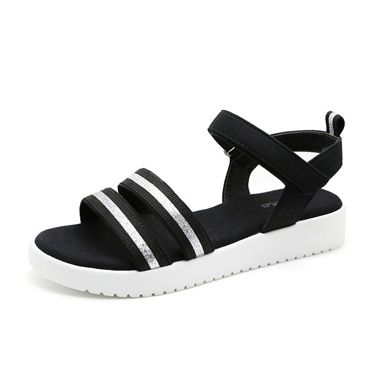 Black Walking Sandals Kid Sandal For