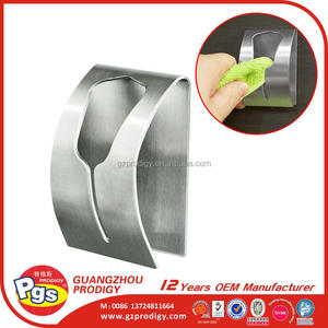 Adhesive stainless steel clips for towel holder