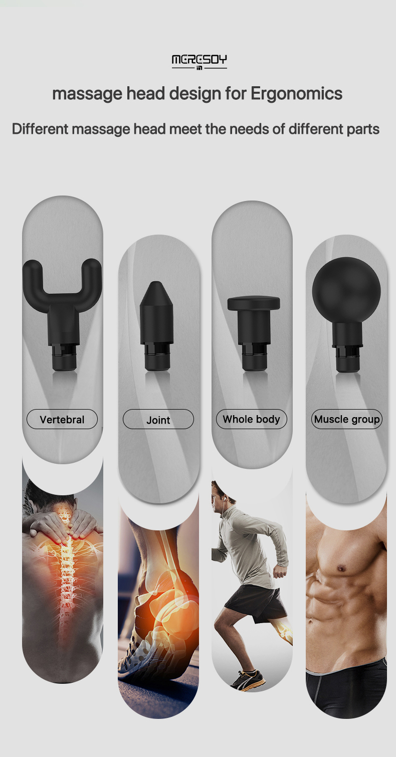 Therapie Fascia Massager Gun Tiefe Percussion Power Vibration Muskel Entspannen Sport Massage Gun Cordless Massager Gun