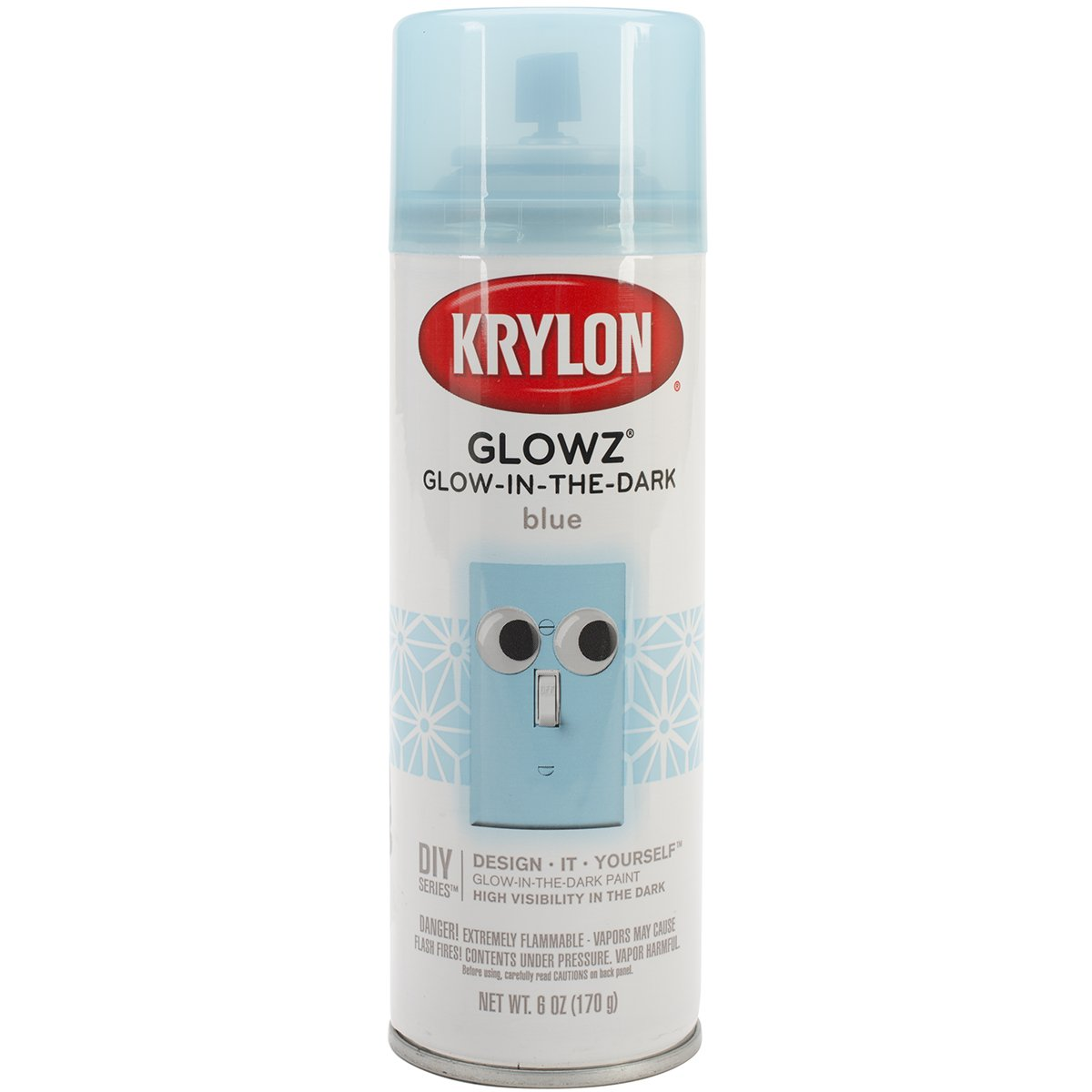 Krylon Darice Glowz Glow-in-The-Dark Spray Paint - Blue - 6 Oz