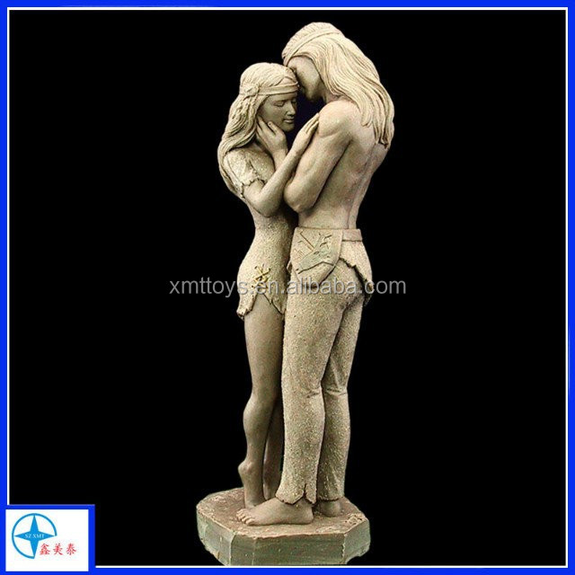 High Quality Resin Adam And Eve Romantic Kiss Figurine