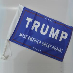 Custom 100%polyester Donald Trump make American great again car flag