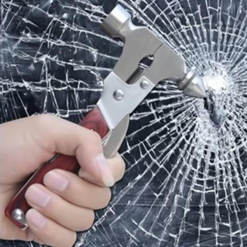 Мини мульти безопасности спасательные молоток стекло выключателя автомобиля аварийного покидания и огонь молот спасательных инструмент