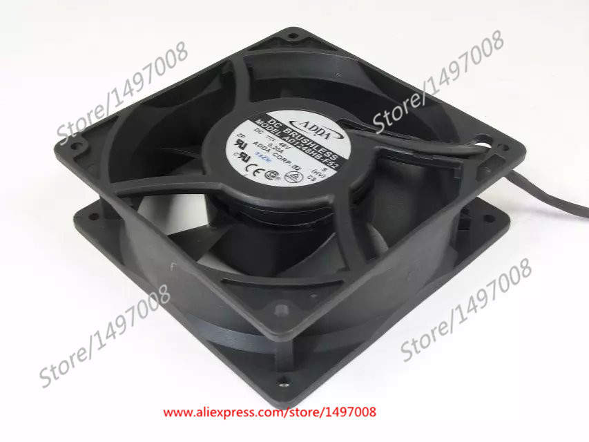 Free Shipping For ADDA  AD1248HB-F52, S, HV DC 48V 0.20A 3-wire 3-pin connector 100mm 120X120X38mm Server Square Cooling fan