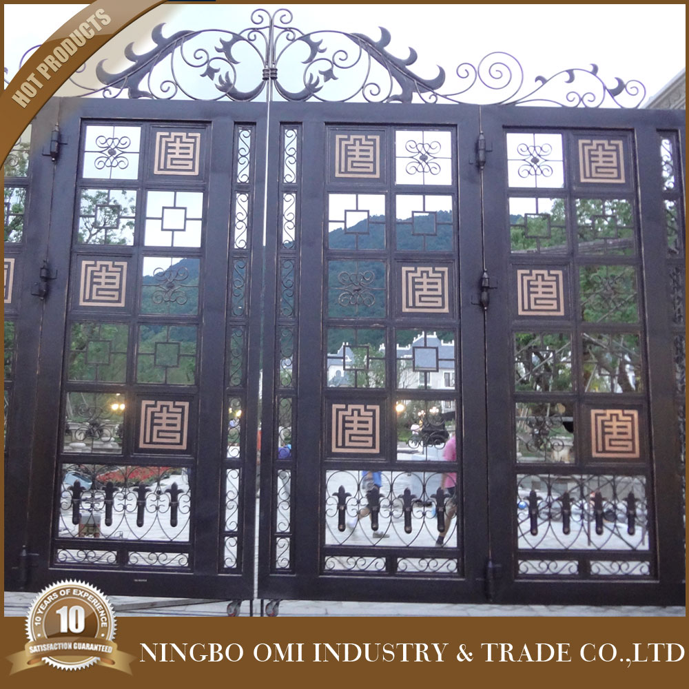 wrought iron door inserts / decorative wrought iron door gates