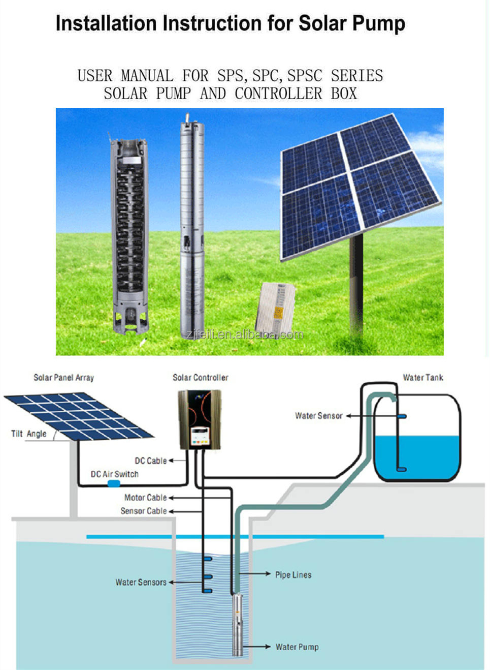 Solar 48v Dc Deep Well Water Pump For Irrigation