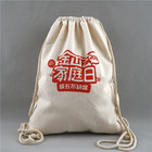 High Quality Promotional Cotton backpack bag Printed Custom Design Drawstring Bags