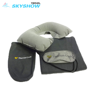 Cost-Effective 3-In-1 Promotion Inflatable Airline Hotel Travel Kit Products