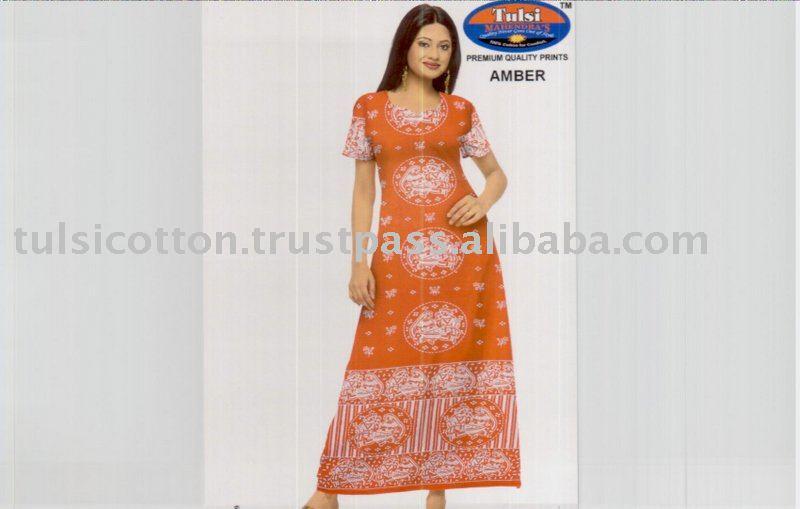 Ladies Cotton Nightwear Gowns - Buy Ladies Cotton Nightwear Gowns ...