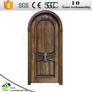 qatar solid wood door arch mahogany double entry door