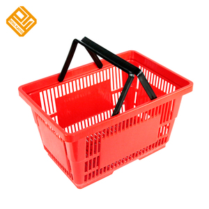Wholesale collapsible plastic shopping basket for supermarket