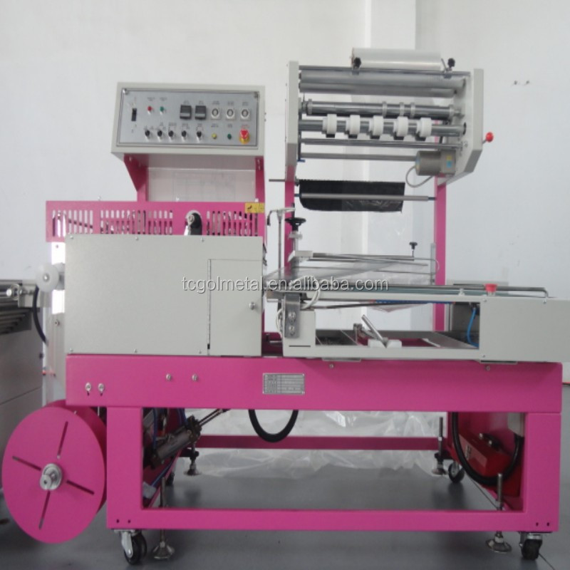 L type full automatic shrink packing machine tin can shrink wrap machine with CE