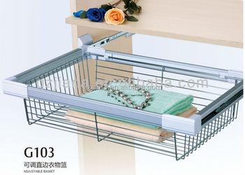 Sliding Wardrobe Metal Wire Drawer Storage Basket - Buy Wardrobe ...