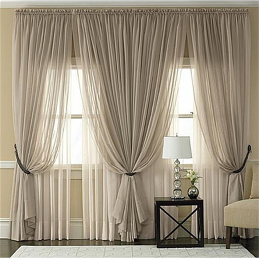 Multicolor sheer tulle curtains Cheap Custom window ...
