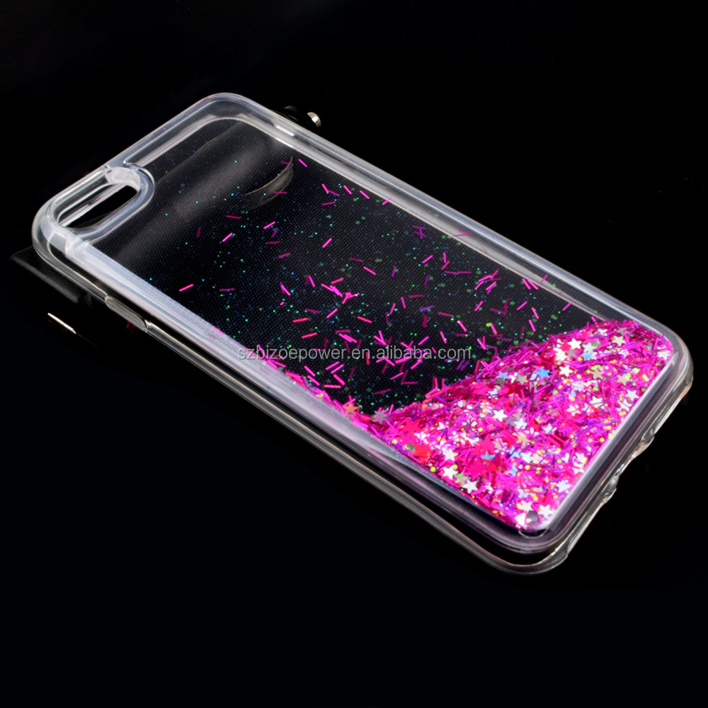 New Hot Sale Bling Bling Floating Liquid Phone Cover Glitter Phone Case for iPhone 6 / 6s / 7 Plus