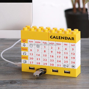 DIY blocks usb 2.0 hub calendar with bluetooth/usb hub with cable/Executive DIY desk calendar 2015