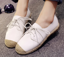 2016 New arrival fashion women shoes splicing casual flat lady work handmade shoes
