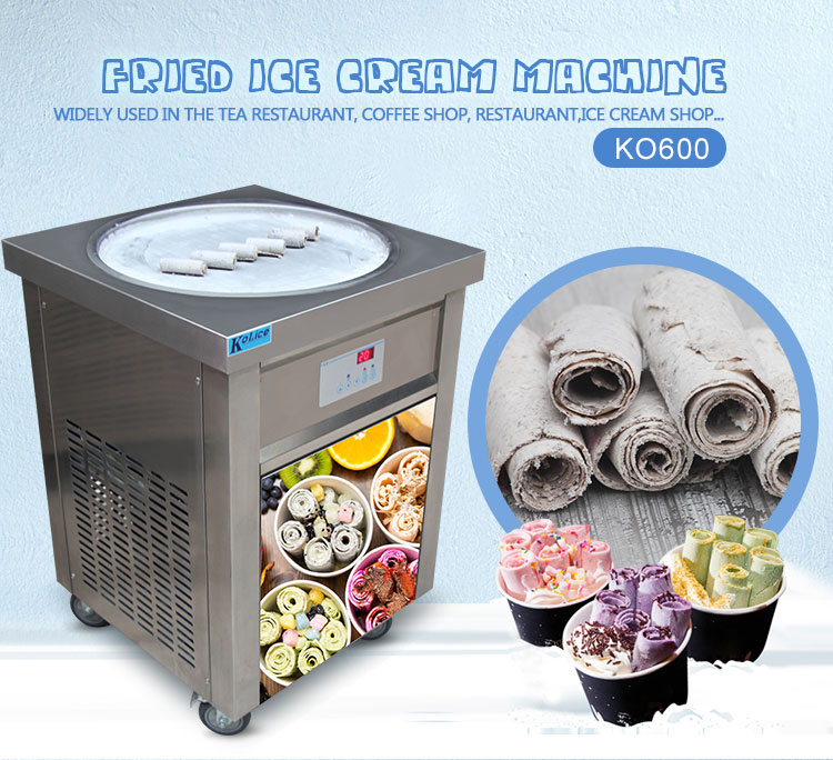 Free shipping to world wide big capacity australia commercial easy operate fried ice cream machine roll maker used