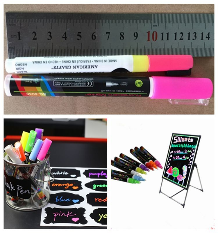 2016 Hot Selling Hair Dye Liquid Chalk Markers -Erasable Ink | Parallel Tip FREE 8 Chalkboard Labels.
