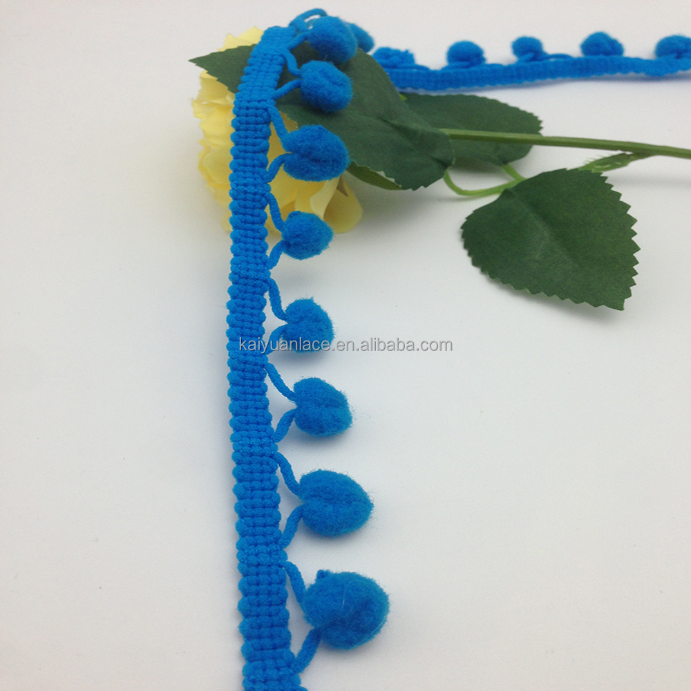 garment accessory sewing craft pompom tassel maker fashion blue ball pom pom trim