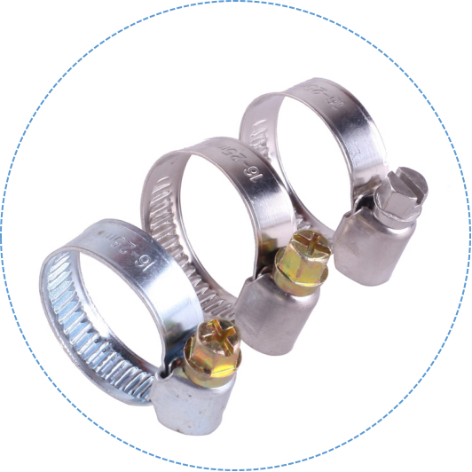 Hole On The Band American Type Hose Clamp