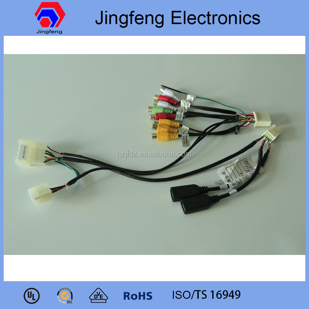 Automobile USB cable and RCA wiring harness rca wire harness, rca wire harness suppliers and manufacturers at Ford Wiring Harness Kits at virtualis.co