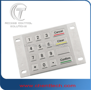 USB interface 4x4 matrix 16 keys metal industrial keypad kiosk keypad