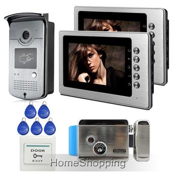 versandkosten neuen verdrahtet 7 tft video t rsprechanlage gegensprechanlage system 2 metall. Black Bedroom Furniture Sets. Home Design Ideas