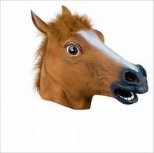 Free shipping Horse Halloween Mask Horsehead people headgear Halloween mask