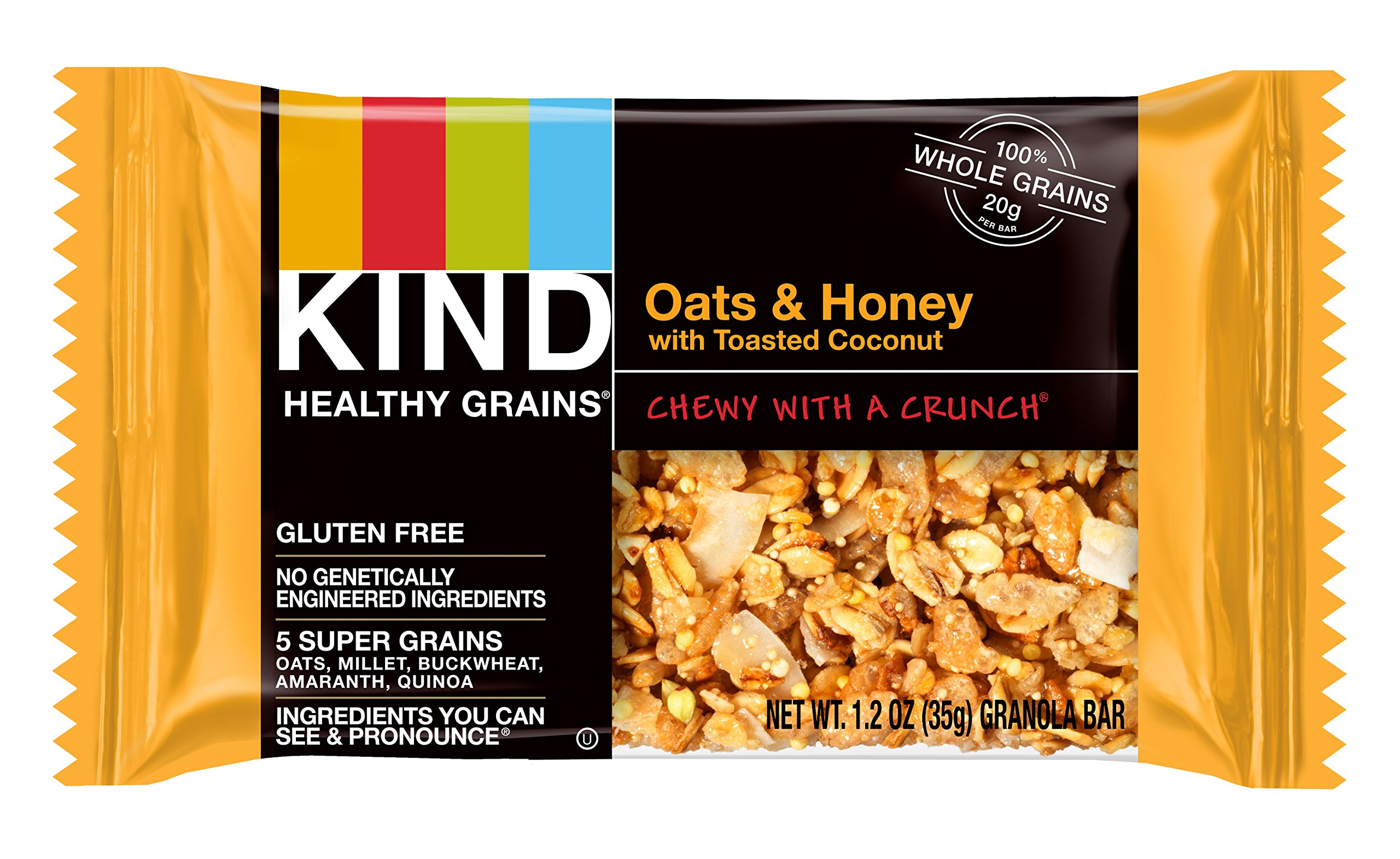 KIND Healthy Grains Bars, Oats & Honey with Toasted Coconut, Non GMO, Gluten Free, 1.2oz Sample