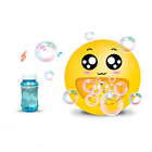 Summer Outdoor Cute Electronic Automatic Bubble Machine Toy with Cool Lights Shocking Music Including Bubble Water For kids