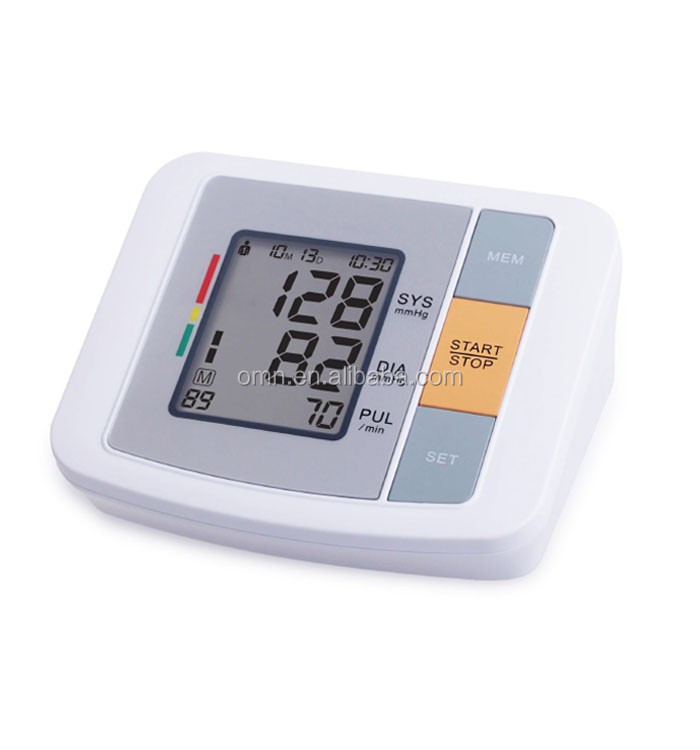 Home use portable bp meter heart rate lcd arm blood pressure monitor medical appliance assembly best digital sphygmomanometer