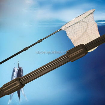 2/2.5/3m Black Rod Fish Net/Small Pond Net with Extendable Handle
