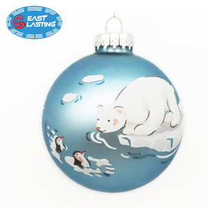 Animal themed custom Christmas ornaments personalized glass round ball