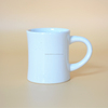 [ZIBO HAODE CERAMIC]white wholesale stoneware curl wasit shape ceramic milk coffee mug
