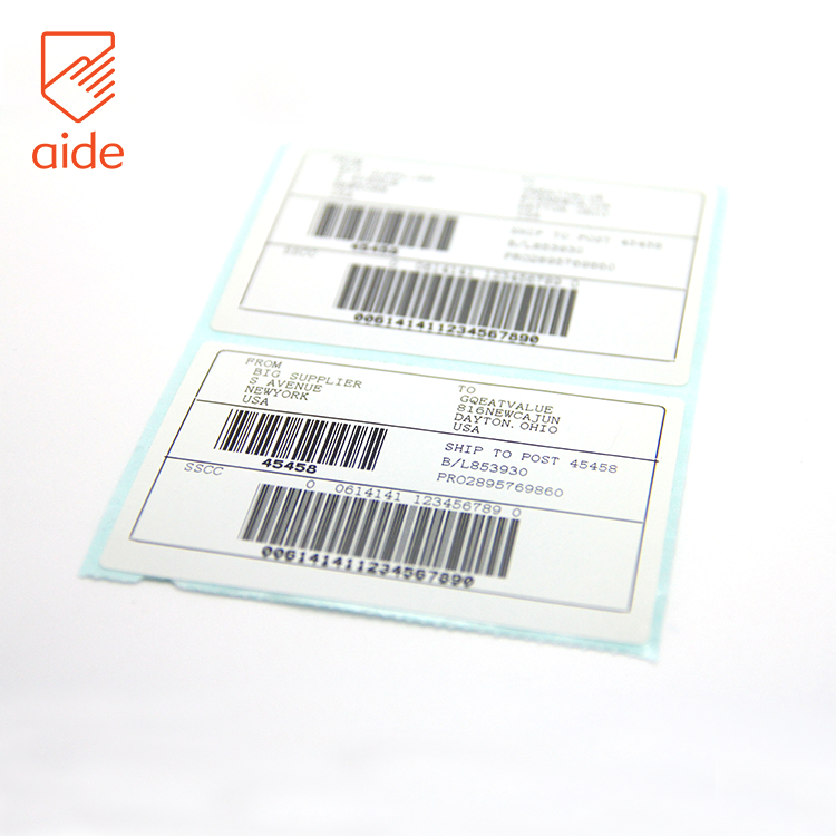 Waterproof Transparent Shipping Writable Self Adhesive Direct Thermal Barcode White Label Sticker Stock Paper Roll